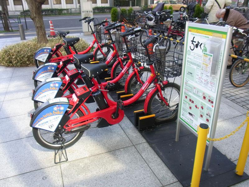 docomoシェアサイクルの電動アシスト自転車の画像