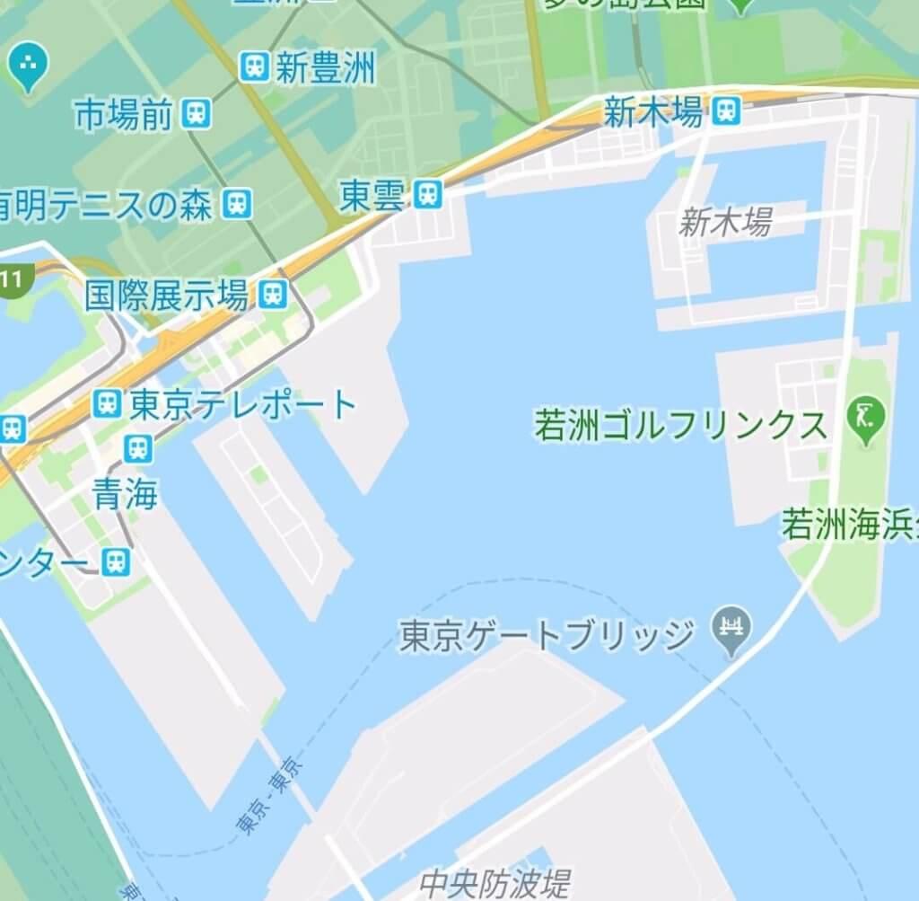 ウーバーイーツのエリア(新木場・晴海)