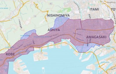Uber Eats(ウーバーイーツ)神戸のエリア2020年4月