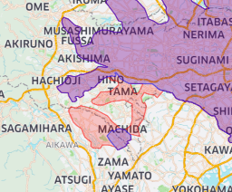 Uber Eats(ウーバーイーツ)町田・相模原のエリア2020年5月