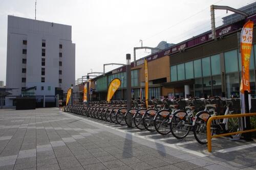 静岡でレンタサイクルで配達する!