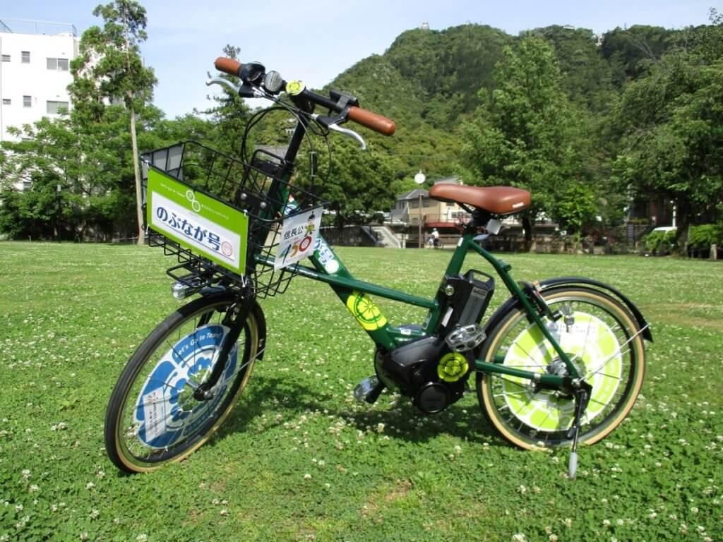 岐阜でレンタサイクルに乗って配達する