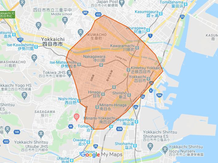 Uber Eats(ウーバーイーツ)三重県四日市市エリア