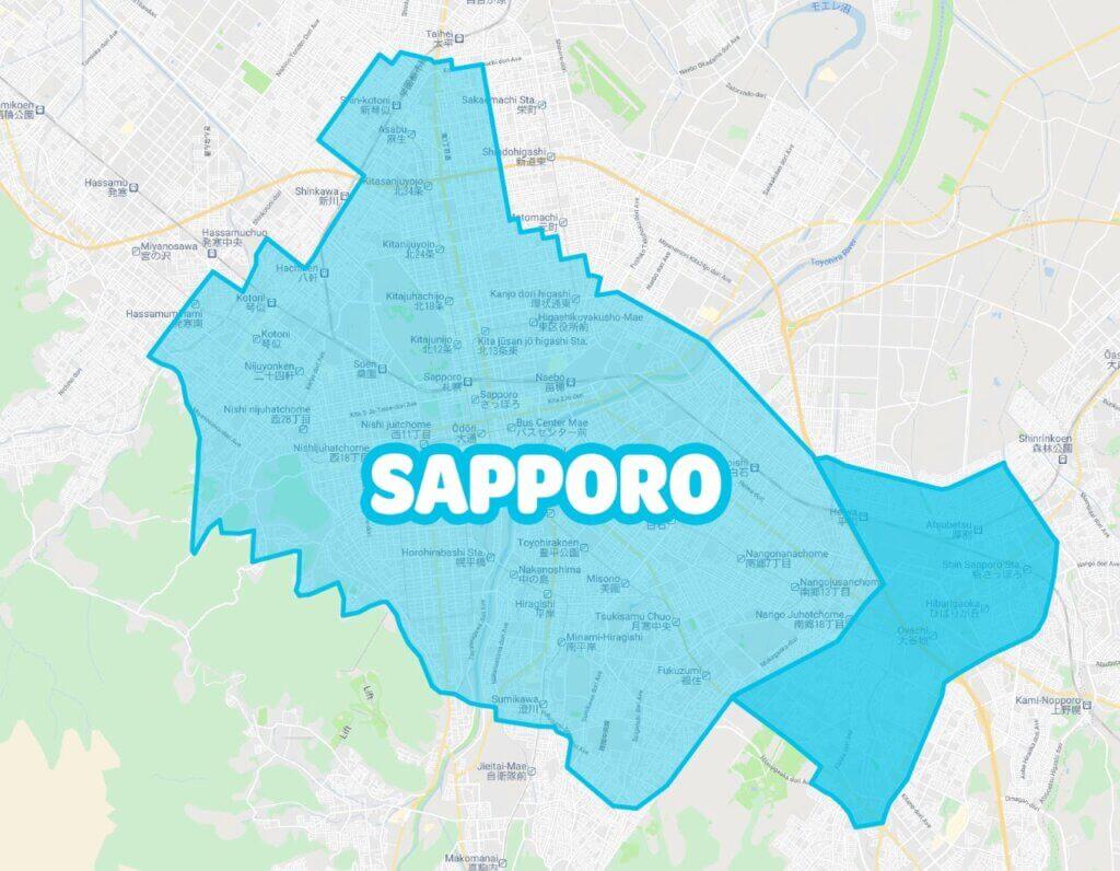 札幌市のWolt(ウォルト)エリア